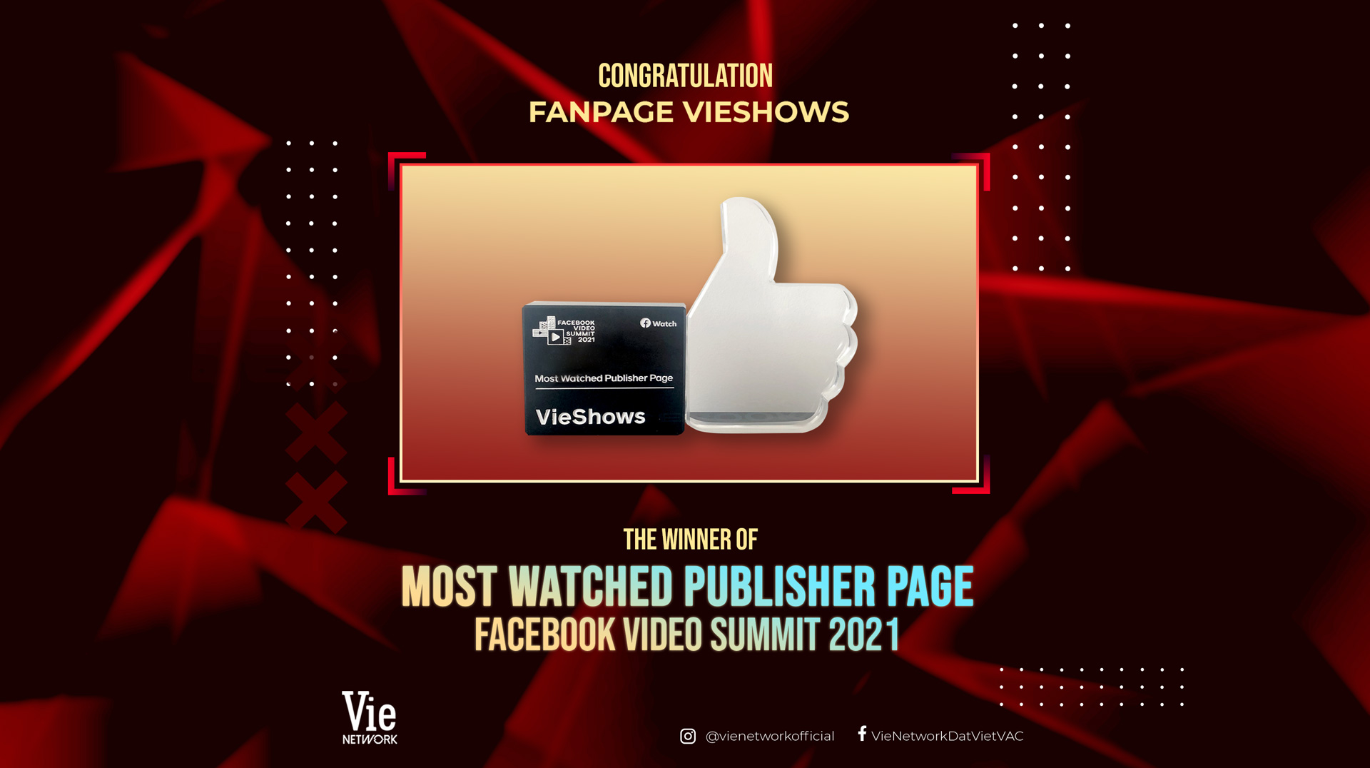 Vieshows honored at FACEBOOK VIDEO SUMMIT 2021